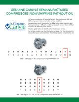 Genuine Carlyle Remanufactured Compressors Now Shipping Without Oil