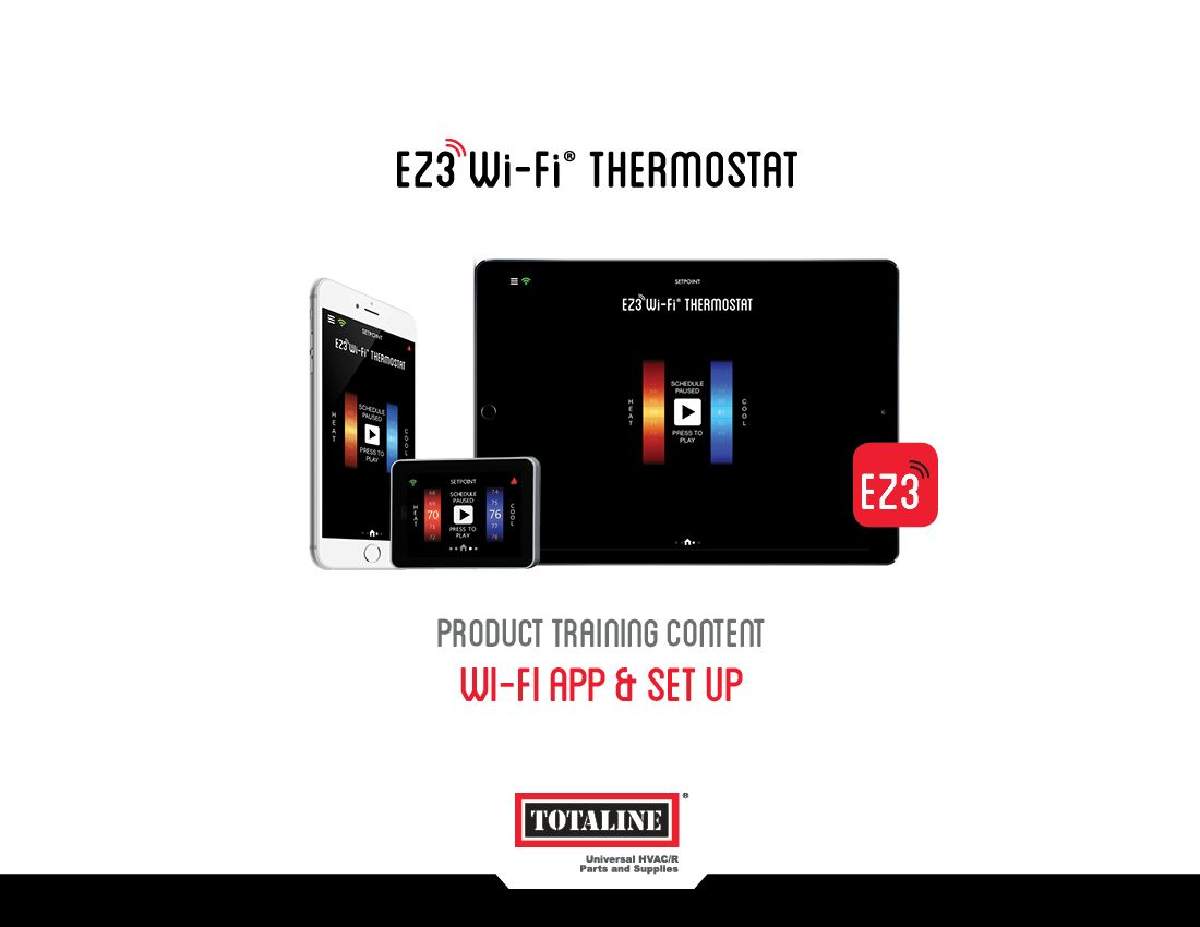 Wi-Fi® Thermostats: EZ3 Wi-Fi & Android App Set Up