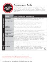 Factory Authorized Parts Replacement Coils Fact Sheet