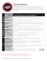 Factory Authorized Parts Control Board Fact Sheet