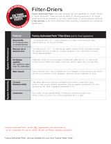 Factory Authorized Parts Filter-Driers Fact Sheet