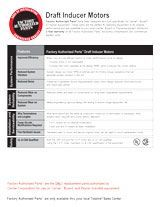 Factory Authorized Parts Inducer Motor Fact Sheet