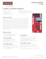 Indoor Air Quality: TL-EZ2N 2-Zone Controller Spec Sheet