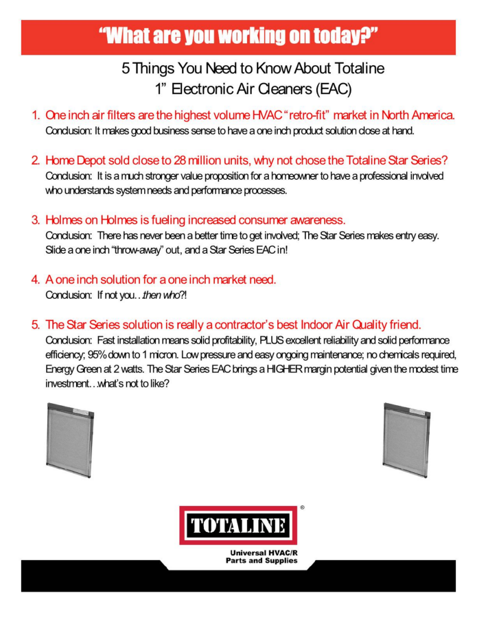 Fact Sheet: 5 Things You Need to Know About Totaline