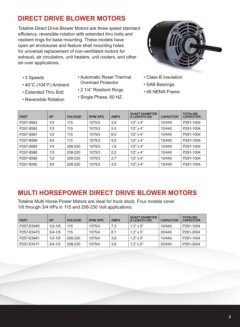 Page 3 - Motors: Replacement Fractional Horsepower Motors